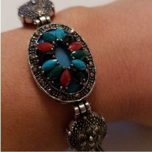Jewelry - Beautiful multi color and marcacide bracelet